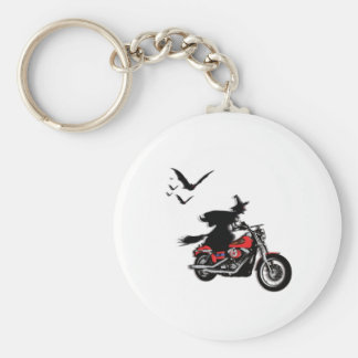 Motorcycle riding witch keychains