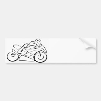Motorcycle running drive bumper sticker