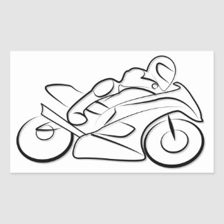 Motorcycle running drive sticker