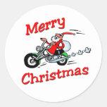 Motorcycle Santa Sticker