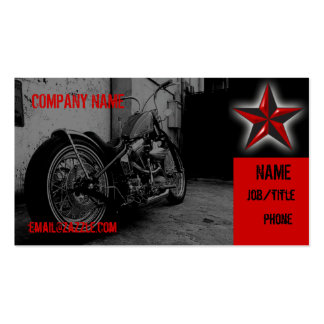 Motorcycle Shop Pack Of Standard Business Cards