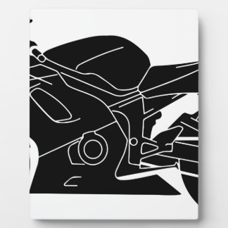motorcycle silhouette display plaque