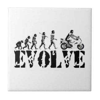 Motorcycle Sportbike Motor Evolution Sports Art Tile