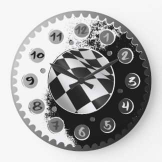MOTORCYCLE SPROCKET WALL CLOCKS. LARGE CLOCK