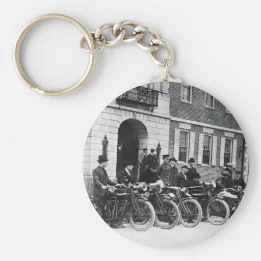 Motorcycle Squad, early 1900s Keychain