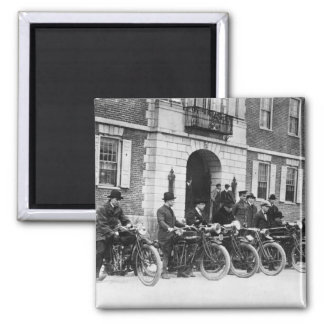 Motorcycle Squad, early 1900s Refrigerator Magnets