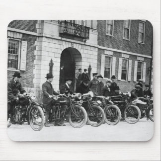 Motorcycle Squad, early 1900s Mouse Mat