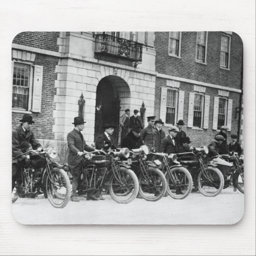 Motorcycle Squad, early 1900s Mouse Pad