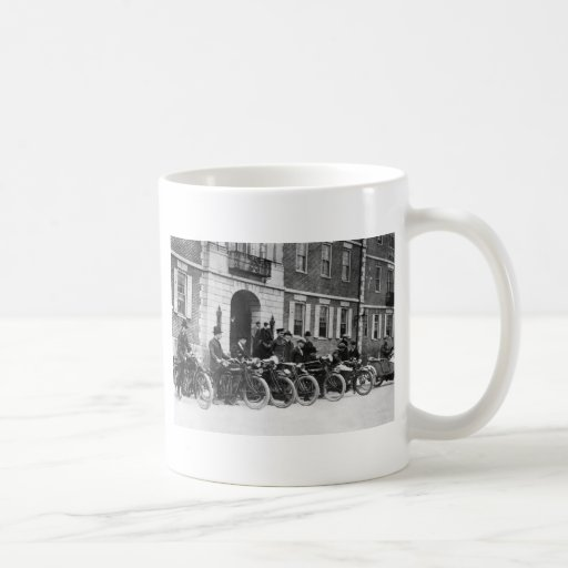 Motorcycle Squad, early 1900s Mugs