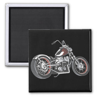 Motorcycle. Square Magnet