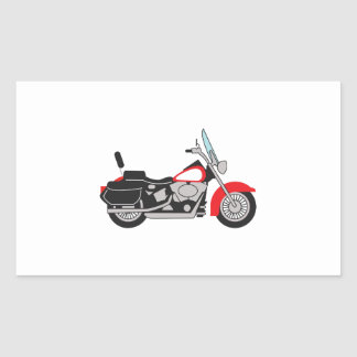 MOTORCYCLE RECTANGLE STICKERS