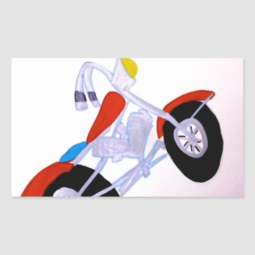 Motorcycle Rectangle Sticker