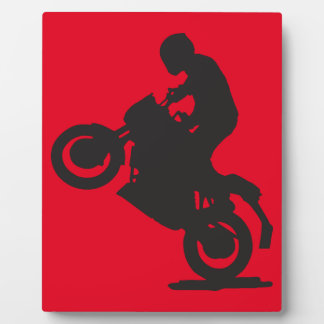 MOTORCYCLE STUNTS SPORTS  GROUND TRANSPORTATION SP PHOTO PLAQUES