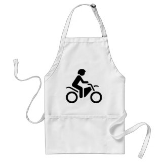Motorcycle Symbol Adult Apron