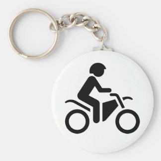 Motorcycle Symbol Basic Round Button Key Ring