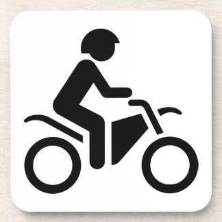 Motorcycle Symbol Beverage Coasters