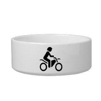 Motorcycle Symbol Cat Water Bowls