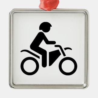 Motorcycle Symbol Christmas Tree Ornament