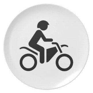 Motorcycle Symbol Dinner Plates