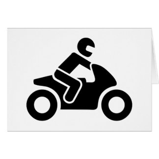 Motorcycle symbol greeting card