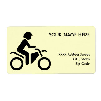 Motorcycle Symbol Shipping Label
