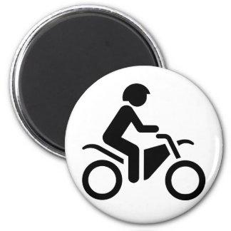 Motorcycle Symbol 6 Cm Round Magnet