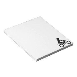 Motorcycle Symbol Notepad