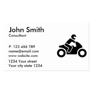 Motorcycle symbol pack of standard business cards