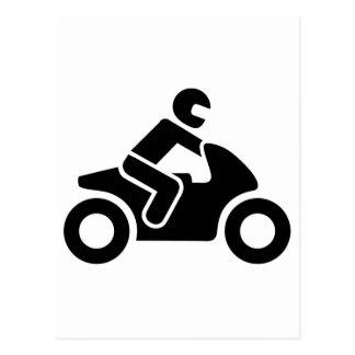 Motorcycle symbol postcard