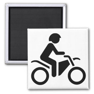 Motorcycle Symbol Square Magnet