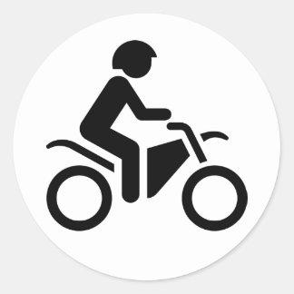 Motorcycle Symbol Round Stickers