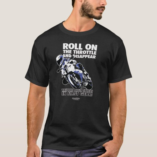 Motorcycle T-Shirt - Roll On Throttle