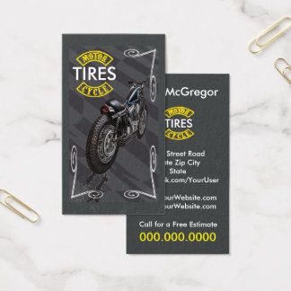 Motorcycle Tires Business Card
