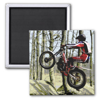 motorcycle trials rider magnet