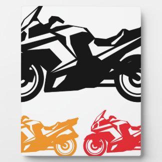 Motorcycle vector photo plaque