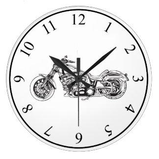 Motorcycle Wallclock