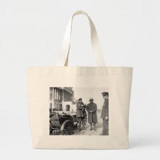 Motorcycle with Sidecar, 1918 Jumbo Tote Bag