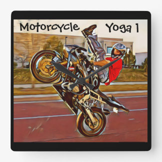 Motorcycle Yoga 1 Clock