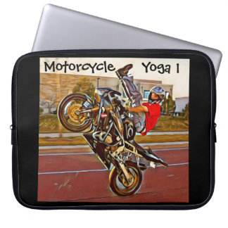 Motorcycle Yoga 1 Laptop Sleeve