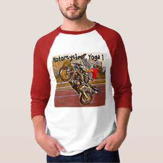 Motorcycle Yoga 3/4 Sleeve T-Shirt