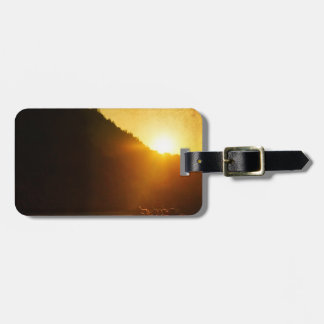 Motorcycles at Sunset Luggage Tag