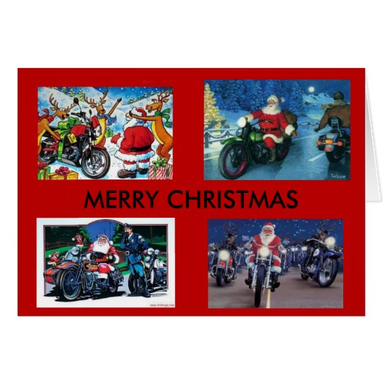 Motorcycles Christmas Card