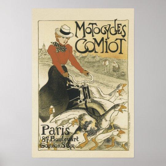 Motorcycles Comiot Paris Poster