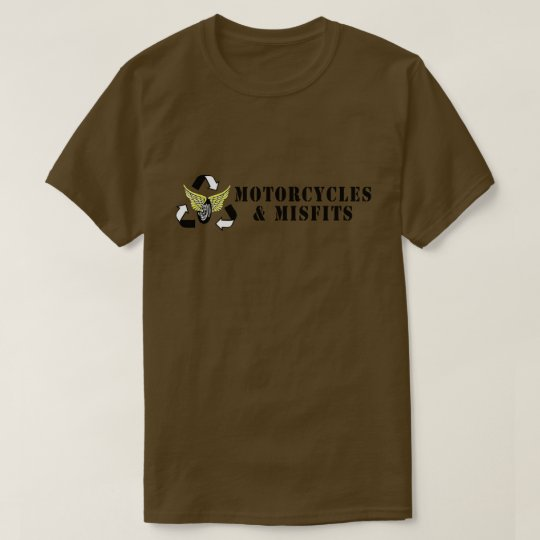 Motorcycles & Misfits Army Green T-Shirt