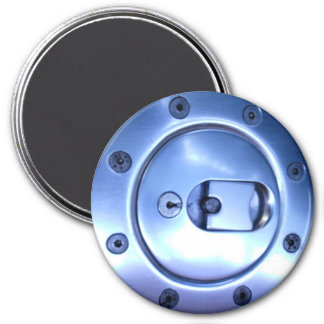 Motorcycles Motorcycle Black Silver Fuel Cap Photo 7.5 Cm Round Magnet