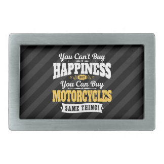 Motorcyclist Cant Buy Happiness Can Buy Motorcycle Rectangular Belt Buckles