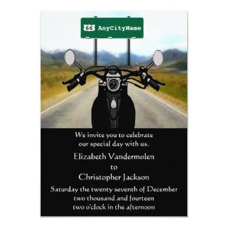 "Motorcyclist Wedding Invitation 5"" X 7"" Invitation Card"