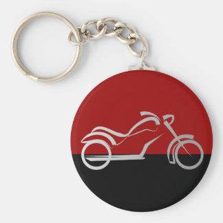 motorcyle motorbike bike biker basic round button key ring