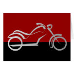 motorcyle motorbike bike biker greeting card