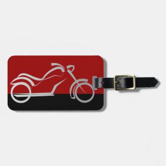 motorcyle motorbike bike biker luggage tag